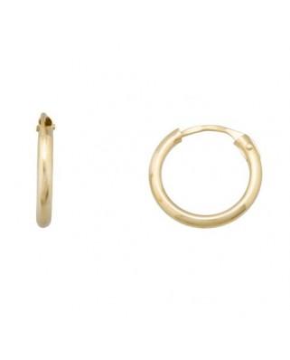 Pendientes oro amarillo aros 1,25 x 7,5 mm