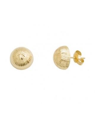 Pendientes oro amarillo 1/2 bola 10mm tallada presio