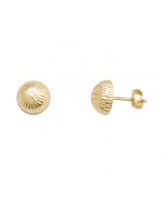 Pendientes oro amarillo 1/2 bola 8 mm tallada presio