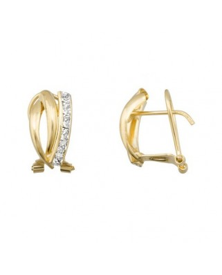 Pendientes oro amarillo band cir 2 x 2 band lisa om