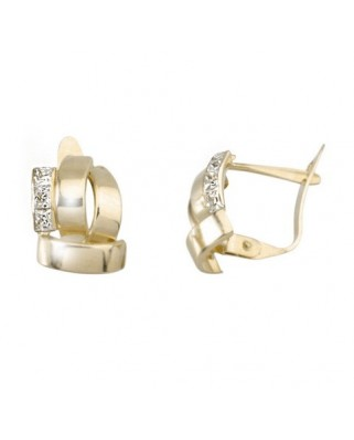Pendientes oro amarillo band lisa 1 b cir 2x2 cata