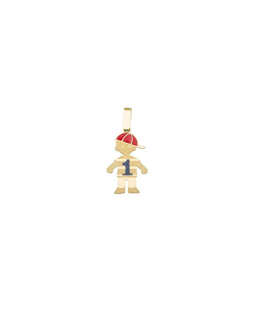 Colgante niño oro amarillo Colgante niño con gorra