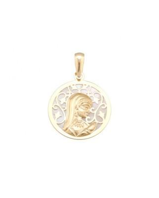 Colgante comunión oro amarillo Medall nacar 17mm v niña