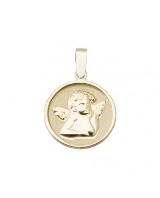Colgante comunión oro amarillo Colgante medalla angel
