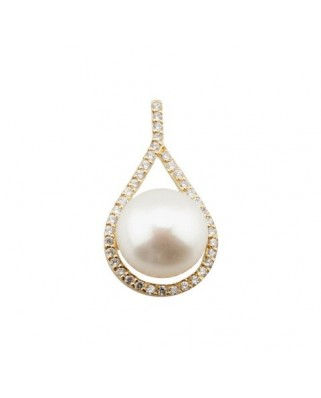 Colgante perla oro amarillo Col lagrima perl bot 10mm