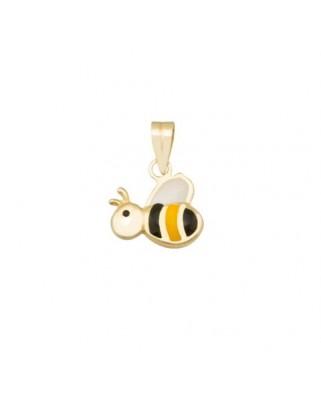 Colgante animal oro amarillo Colgante abeja esmaltada