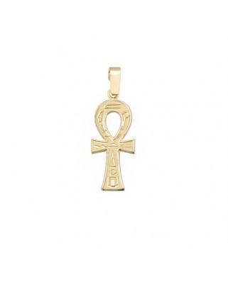 Cruz oro liso oro amarillo Cruz egipcia