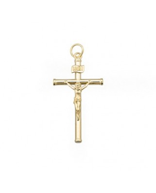 Cruz Cristo oro amarillo Crucifijo 29 m.m.