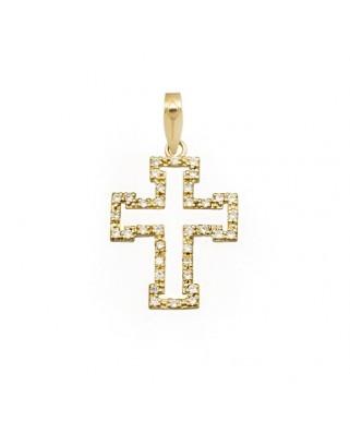 Cruz circonita oro amarillo Cruces piedras