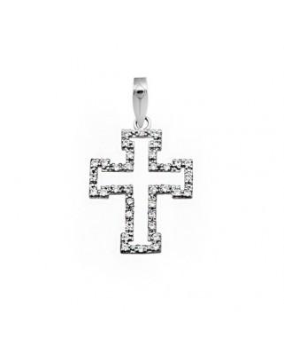 Cruz circonita oro blanco Cruces piedras