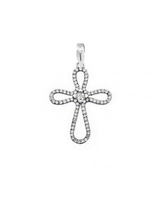 Cruz circonita oro blanco Cruz circonitas