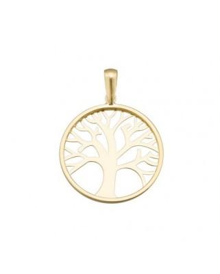Colgante oro amarillo Colg cerc hilo liso arbol vida