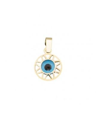 Colgante oro amarillo g ojo turco 6 mm filigrana
