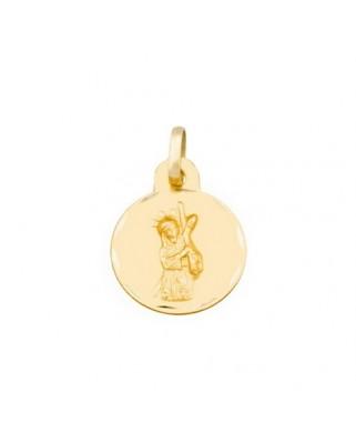 Medalla  Cristo gran poder de 1,5 grs.