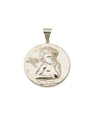 Medalla oro amarillo  medalla angel de la g