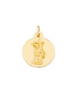 Medalla  Cristo gran poder de 2,8 grs.
