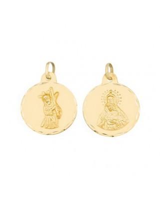 Medalla  Escapulario v.macarena 2,3grs