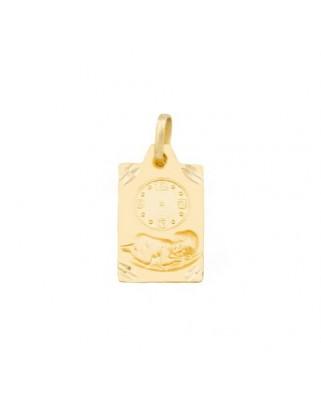 Medalla  Medalla reloj rectan / 1,3 gr
