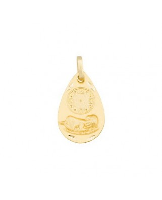 Medalla  Medalla reloj oval / 1,3 grs