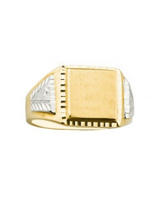 Sello oro bicolor cro.cuadrado lateral o/b