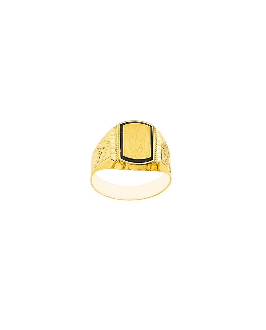 Sello oro amarillo tonel 2 trenz.onix chapa