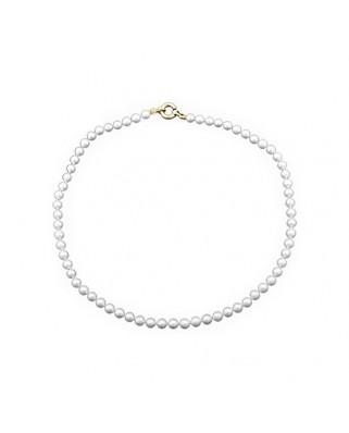 Collar oro amarillo C perla cultiv 6 mm broc marin