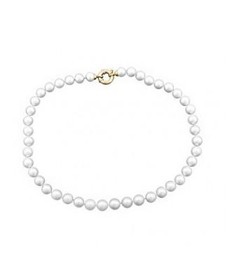 Collar oro amarillo lar perla cultivada 10 mm