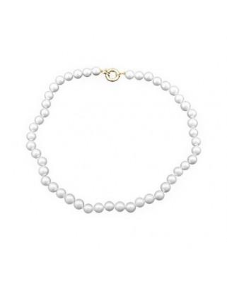 Collar oro amarillo lar perla 9 mm cultivada