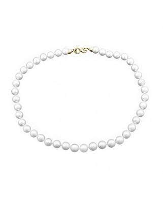 Collar oro amarillo lar perla cultivada 12-13 m