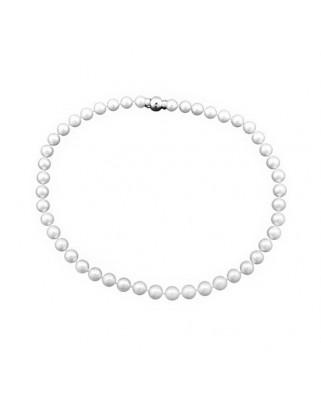 Collar oro blanco C. perla cultivada 9 mm b/blan