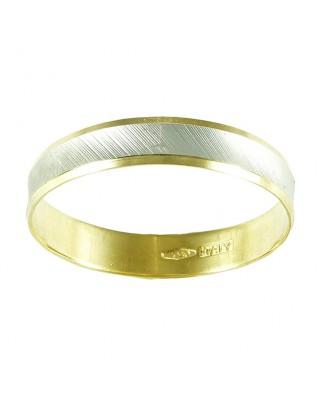 Alianza oro blanco y amarillo 4 mm 2.2 gr