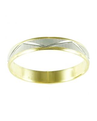 Alianza oro blanco y amarillo 3.5 mm 2.2 gr