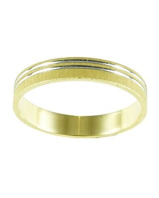 Alianza oro blanco y amarillo 3.5 mm 2.46 gr