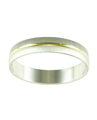 Alianza oro blanco y amarillo 4 mm 2.6 gr
