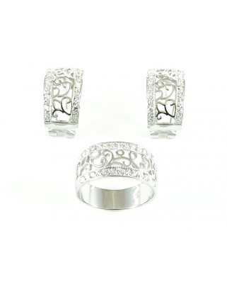 Juego anillo y pendientes de plata