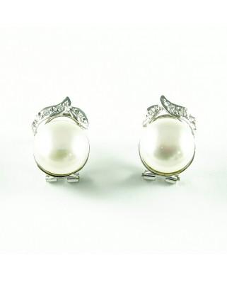 Pendientes plata de ley perlas sintéticas