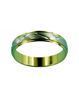 Alianza oro bicolor  zig zag   5.1g