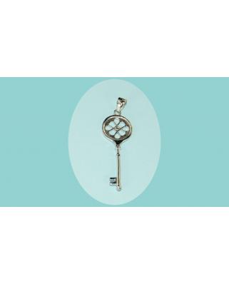 Colgante plata llave