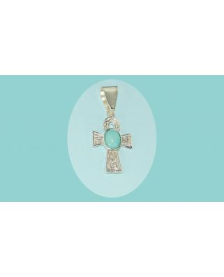 Colgante cruz plata egipcia turquesa