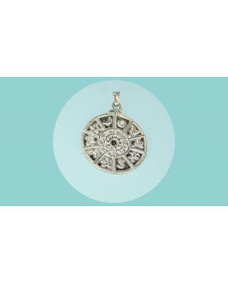 Colgante plata simbolos zodiaco